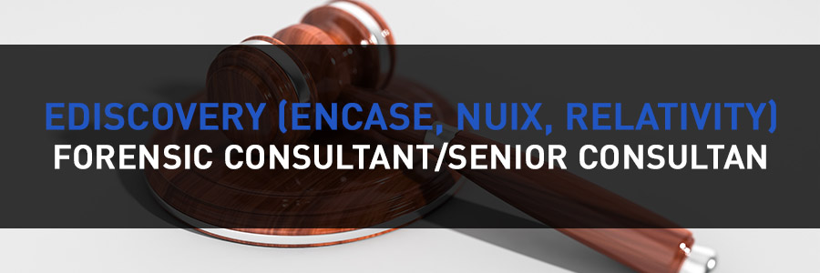 news great opportunity ediscovery encase nuix relativity