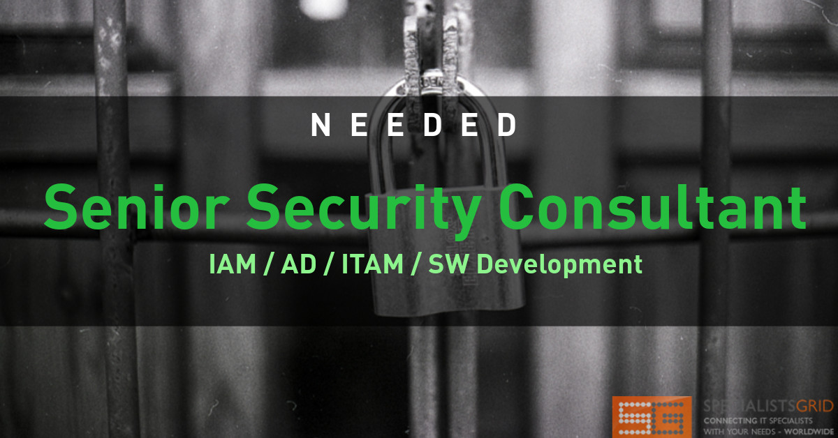 Senior Security Consultant IAM AD ITAM SW Development